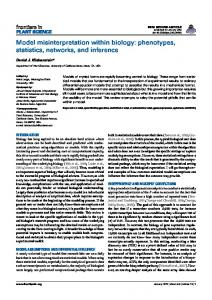 Model misinterpretation within biology: phenotypes ... - Semantic Scholar