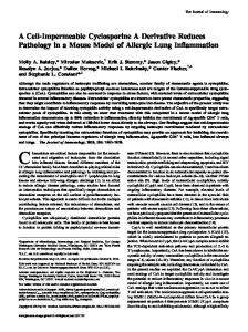 Model of Allergic Lung Inflammation Derivative Reduces Pathology in ...