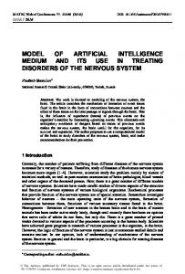 Model of Artificial Intelligence Medium and its Use in Treating ...