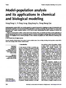 Model-population analysis and its applications in chemical ... - libPLS