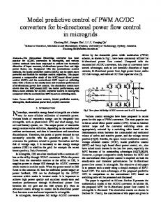 Model predictive control of PWM AC/DC converters for ...