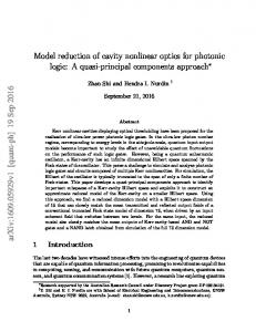 Model reduction of cavity nonlinear optics for