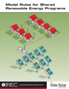 Model Rules for Shared Renewable Energy Programs - Interstate ...
