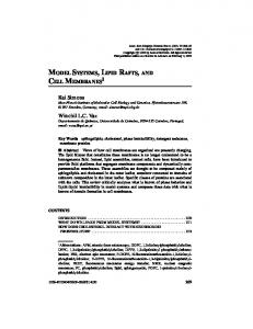 MODEL SYSTEMS, LIPID RAFTS, AND CELL MEMBRANES1 Kai ...