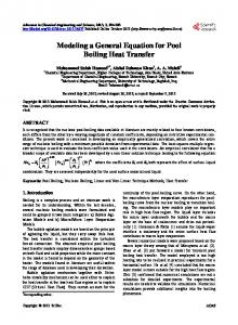 Modeling a General Equation for Pool Boiling Heat Transfer - Scientific ...