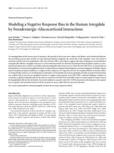 Modeling a Negative Response Bias in the Human Amygdala by ...