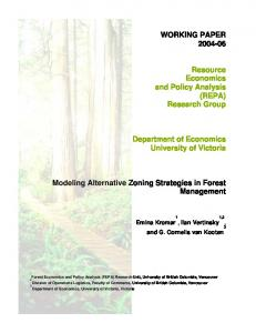 Modeling Alternative Zoning Strategies in Forest Management