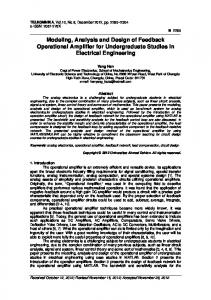 Modeling, Analysis and Design of Feedback Operational Amplifier for