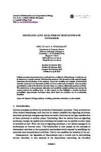MODELING AND ANALYSIS OF BIOPATHWAYS DYNAMICS 1 ...