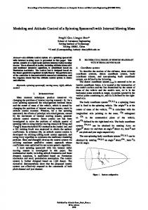 Modeling and Attitude Control of a Spinning Spacecraft ... - Atlantis Press