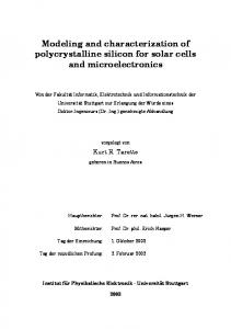 Modeling and characterization of polycrystalline
