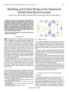 Modeling and Control Design of the Interleaved Double ... - IEEE Xplore