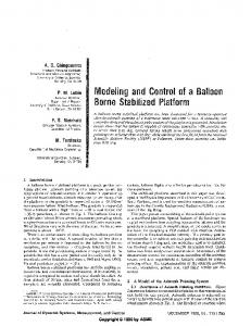 Modeling and Control of a Balloon Borne