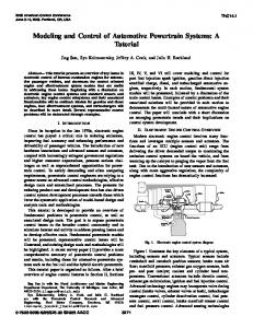 Modeling and Control of Automotive Powertrain Systems: A Tutorial