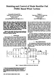 Modeling and Control of Diode Rectifier Fed PMSG ... - IEEE Xplore