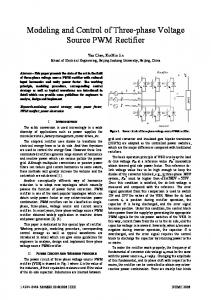 Modeling and Control of Three-phase Voltage Source ... - IEEE Xplore