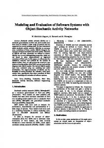 Modeling and Evaluation of Software Systems with Object Stochastic ...