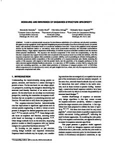 Modeling and Inference of Sequence-structure Specificity