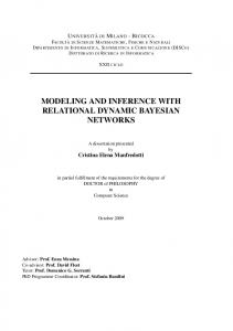 modeling and inference with relational dynamic bayesian networks