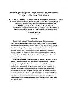 Modeling and Optimal Regulation of ... - Semantic Scholar