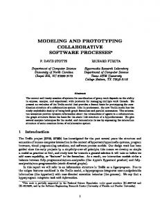 modeling and prototyping collaborative software processes - CiteSeerX