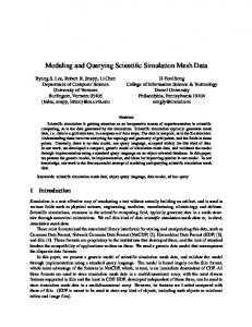 Modeling and Querying Scientific Simulation Mesh Data