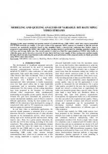 modeling and queuing analysis of variable- bit-rate ... - Semantic Scholar