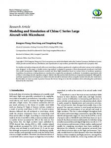 Modeling and Simulation of China C Series Large Aircraft with ...