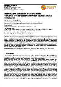 Modeling and Simulation of DC-DC Boost Converter-Inverter System ...