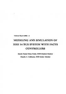 modeling and simulation of ieee 14 bus system with ...