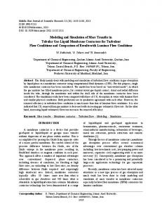 Modeling and Simulation of Mass Transfer in Tubular Gas-Liquid ...