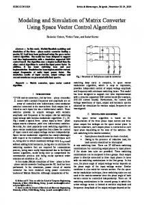 Modeling and Simulation of Matrix Converter Using Space Vector ...