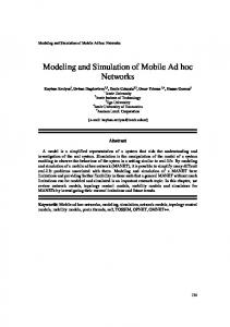 Modeling and Simulation of Mobile Ad hoc Networks - NETOS