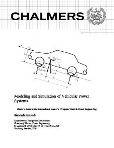 Modeling and Simulation of Vehicular Power Systems - CiteSeerX