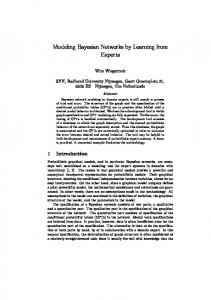 Modeling Bayesian Networks by Learning from Experts - CiteSeerX