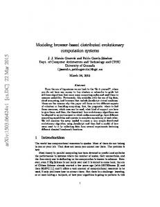 Modeling browser-based distributed evolutionary computation systems