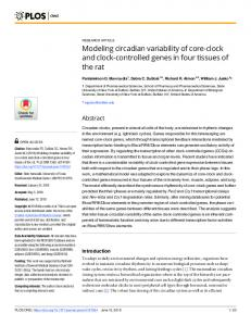 Modeling circadian variability of core-clock and clock ... - PLOS