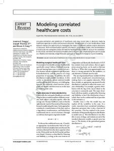 Modeling correlated healthcare costs