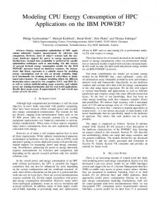 Modeling CPU Energy Consumption of HPC ... - Insieme Compiler