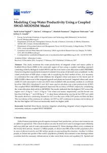Modeling Crop Water Productivity Using a Coupled SWAT ... - MDPI