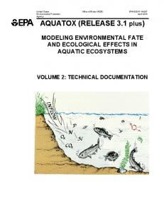Modeling Environmental Fate and Ecological Effect in