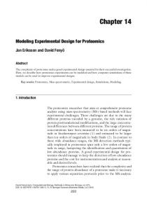 Modeling experimental design for proteomics