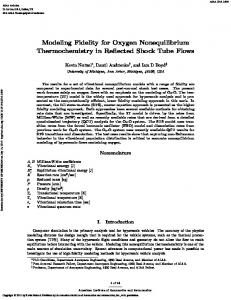 Modeling Fidelity for Oxygen Nonequilibrium ...