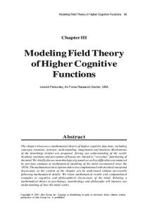 Modeling Field Theory of Higher Cognitive Functions - Leonid Perlovsky