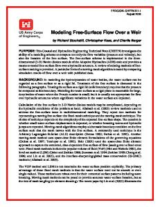 Modeling Free-Surface Flow Over a Weir - Defense Technical ...