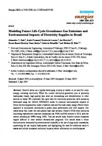 Modeling Future Life-Cycle Greenhouse Gas ... - Semantic Scholar