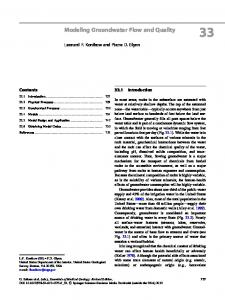 Modeling Groundwater Flow and Quality - Springer Link