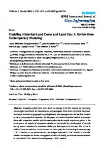 Modeling Historical Land Cover and Land Use: A Review from ... - MDPI
