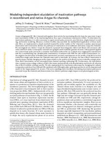 Modeling-independent elucidation of inactivation ... - BioMedSearch