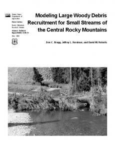 Modeling large woody debris recruitment for ... - US Forest Service